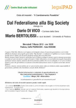 Dal Federalismo alla Big Society