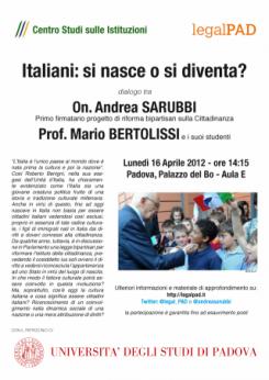 Italiani: si nasce o si diventa?